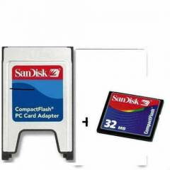 32mb compact flash+pcmci adapt�r