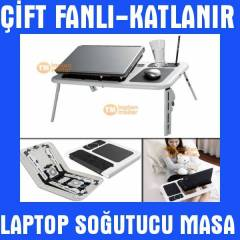 �ift Fanl� Laptop So�utucu Masas� Laptop Sehpas�