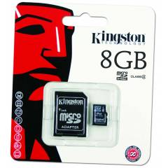 Kingston 8 GB MicroSD Haf�za Kart� ve SD Adapt�r