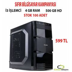 �3 ��LEMC�+4 GB RAM+500 GB HD SIFIR PC STOK 100