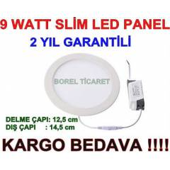 9 WATT SL�M LED PANEL - 9W LED SPOT BEYAZ I�IK