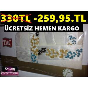 BAMBU BORNOZ TAKIMI,TA� MARKALI GRAPES MODEL�