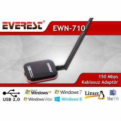 EVEREST EWN-710 USB W�RELESS ADAPT�R 150 MBPS
