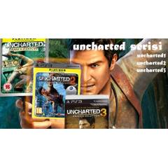 UNCHARTED1+UNCHARTED 2+UNCHARTED 3 PS3 OYUNLARI