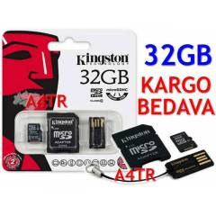 KINGSTON 32GB MICROSDHC HAFIZA KARTI+ 2 AKSESUAR