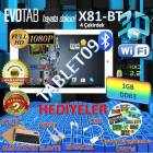 "Evotab X81-BT 8.1"" Tablet Pc +Bluetooth Klavye+"