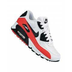 NIKE WOMEN AIR MAX 90 CLASSIC WHITE BLACK RED