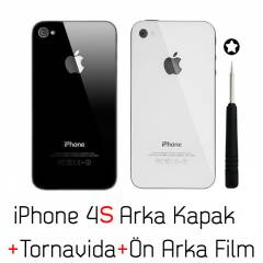 Apple iPhone 4S Arka Kapak + Tornavida + Jelatin