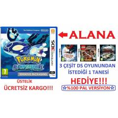 Pokemon Alpha Sapphire 3DS PAL + HED�YE DS OYUN