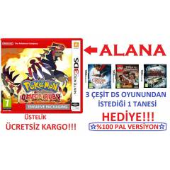 Pokemon Omega Ruby 3DS PAL + HED�YE DS OYUN