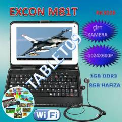 Excon M81 Ips Tablet Pc 1gb Ram Klavyeli Kılıf
