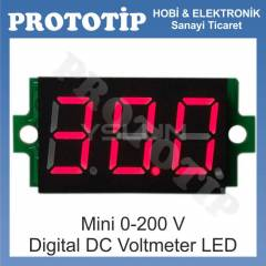 Mini 0-200 V  Digital DC Voltmeter LED