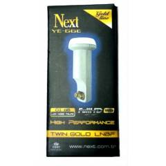 Next �iftli LNB YE-666 0,1dB Gold FULL HD Uyumlu