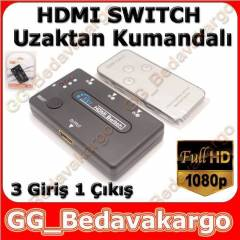 3 PORT HDMI SWITCH KUMANDALI HDMI �OKLAYICI