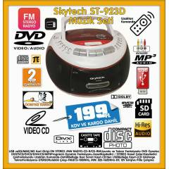 SKYTECH DVD-USB-SD-MP3-CD-KASET ÇALAR-RADYO