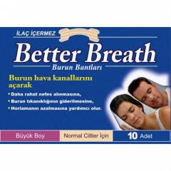 Better Breath Burun Band� Klasik B�y�k Boy 10'lu
