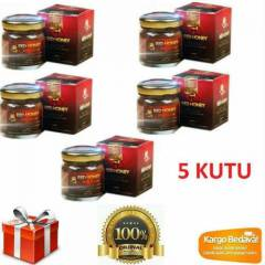5 Kutu Red Honey K�rm�z� Bal Holograml�