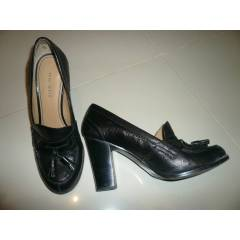 NINE WEST S�YAH TOPUKLU OXFORD AYAKKABI* 7,5 NR