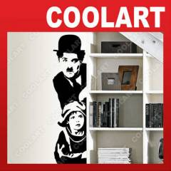 COOLART Duvar Sticker Chaplin ve Jack  (st462)