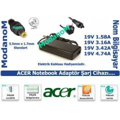 Acer TravelMate 5720-301G12Mn Adapt�r 19v 4.74a