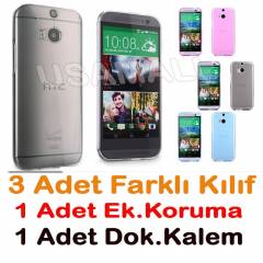 HTC One M8 K�l�f 0.2mm S�PER SET