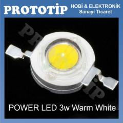 POWER LED 3w Warm White