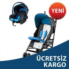 Baby2Go Light Travel Sistem Bebek Arabas� Mavi