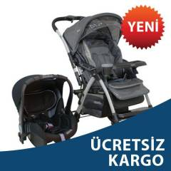 Kraft Elite Travel Sistem Bebek Arabas� Koyu Gri