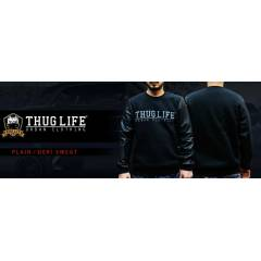 Thug Life Plain Deri Sweat Shirt - (Siyah)