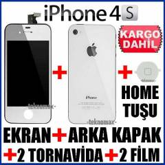 iPHONE 4S EKRAN/ArkaKapak/HomeTu�u/2Jelatin/ORJN