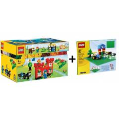 lego bricks 4630 Play Box + Green Plate set