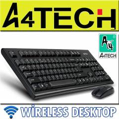A4 TECH KABLOSUZ KLAVYE MOUSE SET KAL�TE