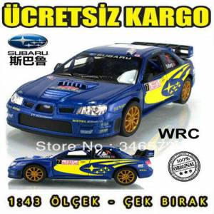 Kinsmart SUBARU wrc car model 1:43 Diecast