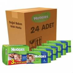 Huggies Islak Havlu Do�al Bak�m 24 l� Koli