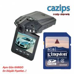 FULL HD ARA� ��� KAMERA 8 GB KART HED�YEL�