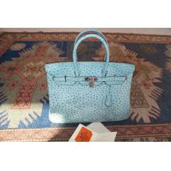 Authentic Hermes 35cm Birkin Ostrich Leather Bag
