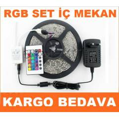 16 RENKL� SET 5 MT RGB �ER�T LED+ADAPT�R+KUMANDA