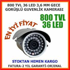 GÜVENLİK KAMERASI 36 LED 800 TVL 3,6 MM