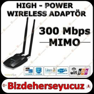 1 km usb wifi wireless kablosuz internet adapt�r