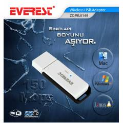 Everest  150 Mbps Usb Kablosuz /Wireless Adapt�r