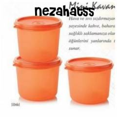 TUPPERWARE M�N� KAVANOZ 3l� SET 550 ml x3 adet
