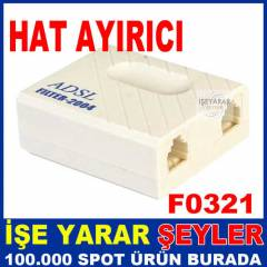 İNTERNET VE TELEFON HAT AYIRICI ADSL SPLITTER