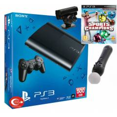 Sony Playstation 3 500 gb + move pack+sports cha