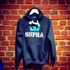 NEW! HOOD�E SUPRA SWEATSH�RT S�YAH