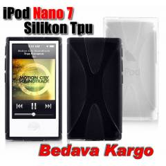 Apple iPod Nano 7 Silikon Soft TPU Kılıf+2xFilm