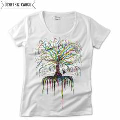 Wish Tree Kad�n Ti��rt T-shirt RNS201