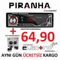 PİRANHA USB SD FM CHARGE (C) TYPE OTO TEYP