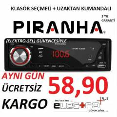 PİRANHA  OTO TEYP CHARGE A TYPE USB + SD + FM