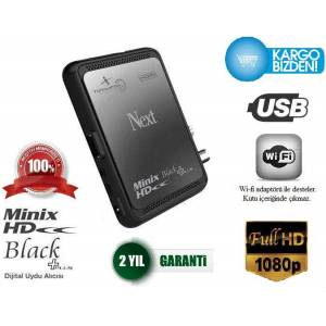Next Minix Full HD Black, Plus Uydu Al�c� YEN�