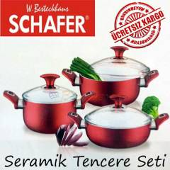 SCHAFER ECO CHEF SERAM�K TENCERE SET� 6 PAR�A